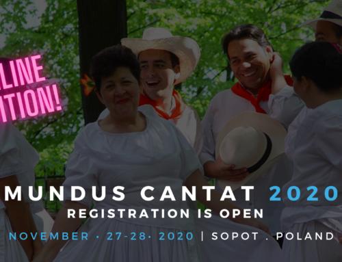 16. MIĘDZYNARODOWY FESTIWAL CHÓRALNY MUNDUS CANTAT SOPOT 2020 w wersji hybrydowej!